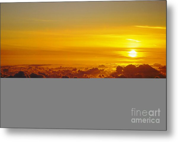 Heleakala Sunrise Metal Print by Stan and Anne Foster