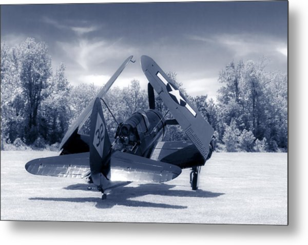 Helldiver Rear Duo Tone Metal Print