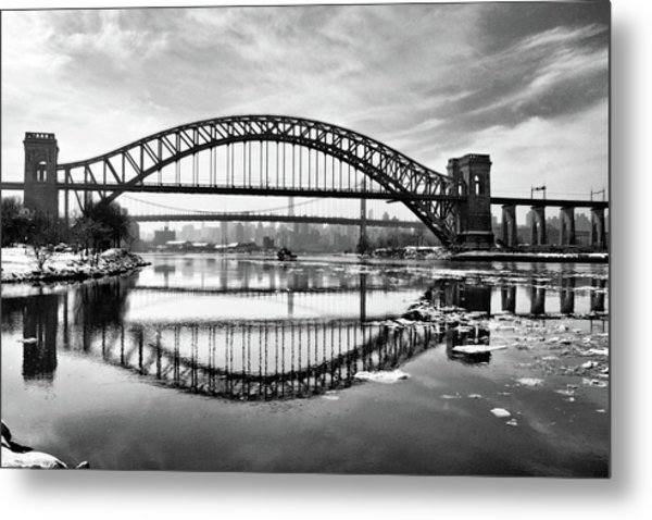 Hellgate Full Reflection Metal Print