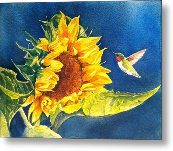 Hello There Metal Print by Patricia Pushaw
