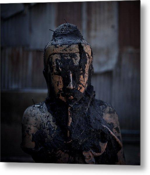 Hellraiser Buddha Metal Print