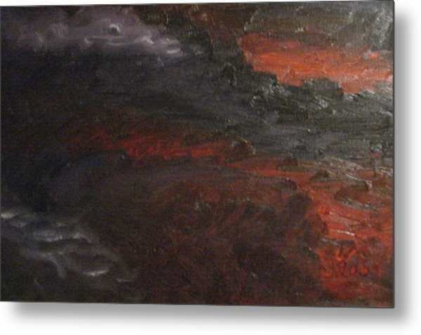 Hell's Fury Metal Print by Gloria Condon