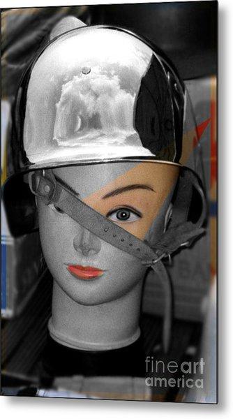 Helmet Metal Print by Sascha Meyer