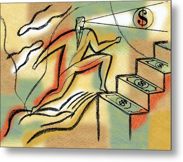 Helping Hand And Money Metal Print