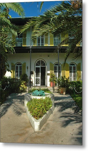 Hemingways House Key West Metal Print