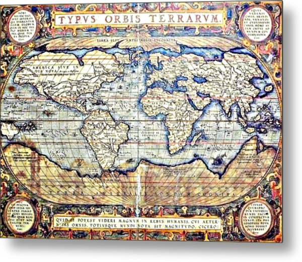 Hemisphere World  Metal Print