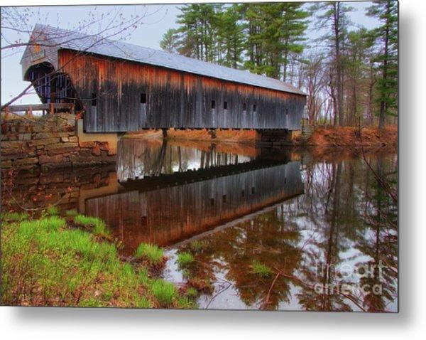 Hemlock Covered Bridge Fryeburg Maine Metal Print