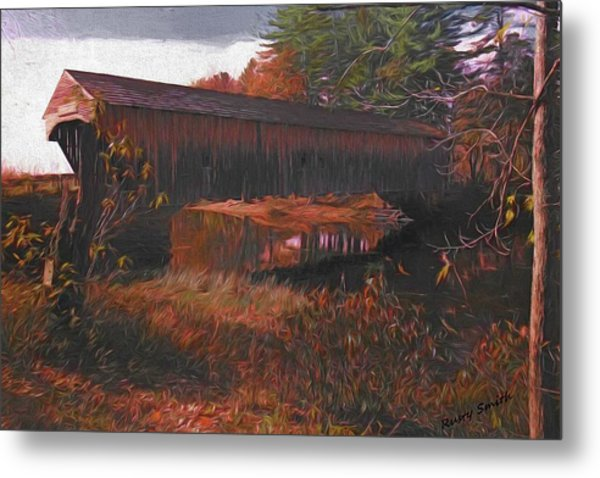 Hemlock Covered Bridge Metal Print