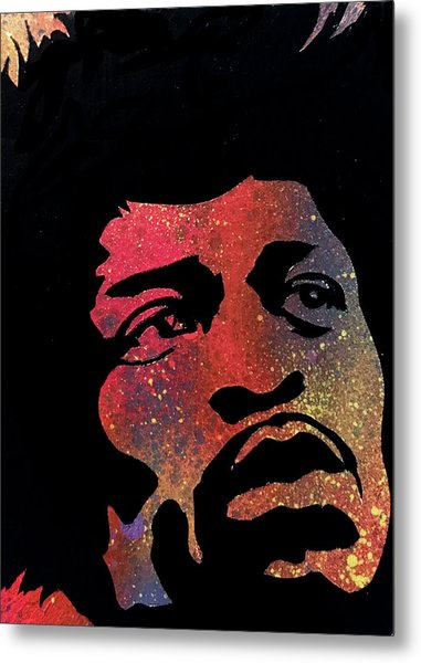 Hendrix Metal Print by Dennis Wells