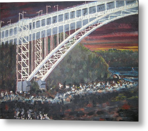 Henry Hudson Bridge Metal Print