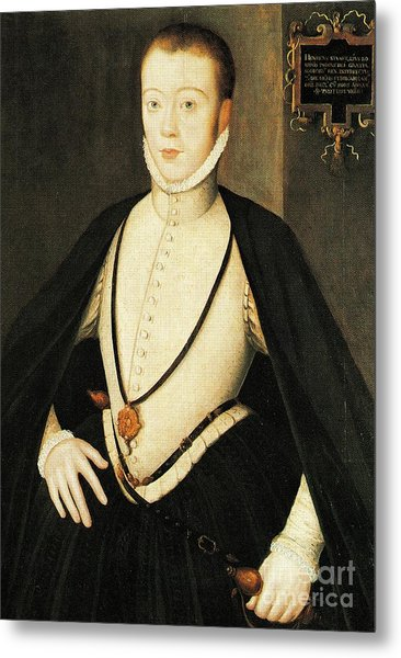 Henry Stewart Lord Darnley Married Mary Queen Of Scots 1565 Metal Print