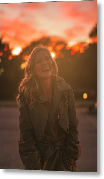 Her Laugh Metal Print