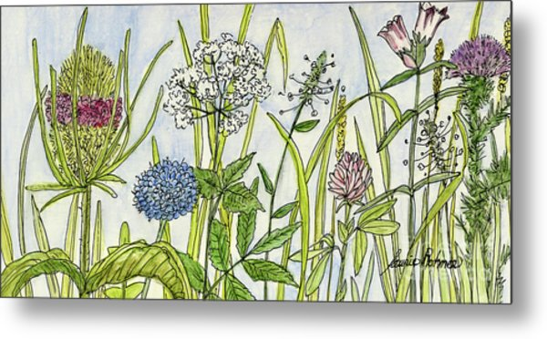 Herbs And Flowers Metal Print