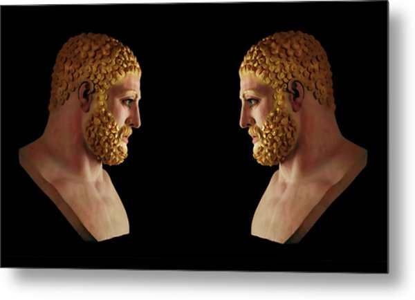 Metal Print featuring the mixed media Hercules - Blondes by Shawn Dall