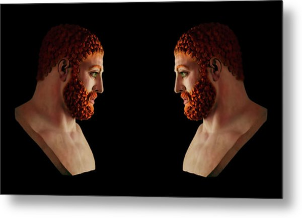 Metal Print featuring the mixed media Hercules - Gingers by Shawn Dall