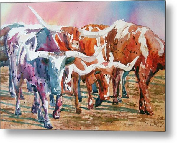 Herd Of Horns Metal Print
