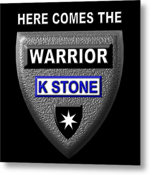 Here Comes The Warrior Metal Print