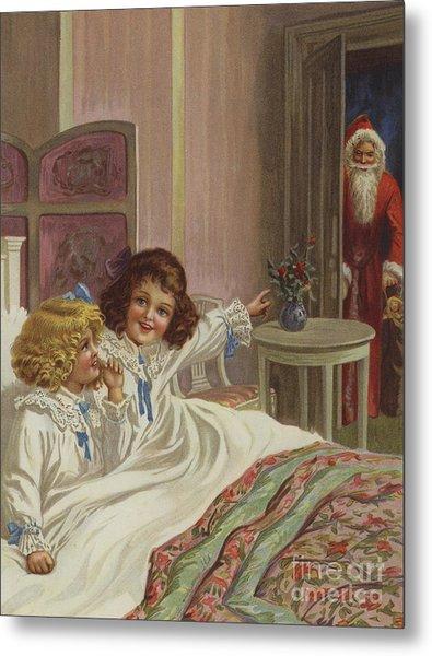 Here Is Father Christmas Metal Print