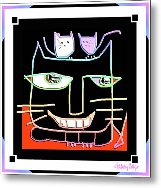 Here,  Kitty Kitty Metal Print