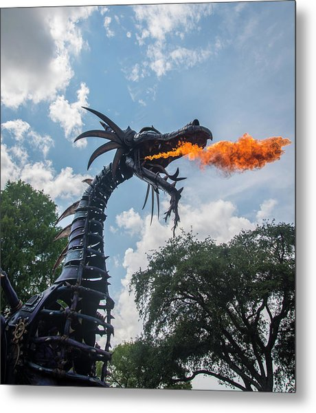 Here There Be Dragons Metal Print
