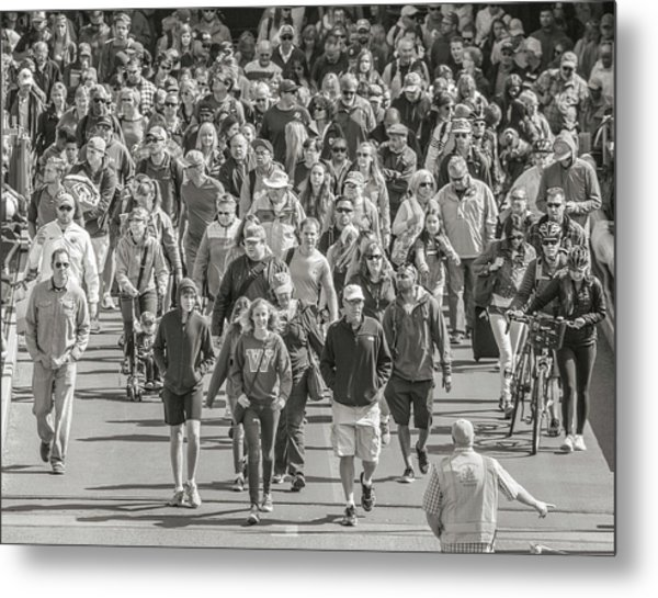 Here We Come Friday Harbor Metal Print