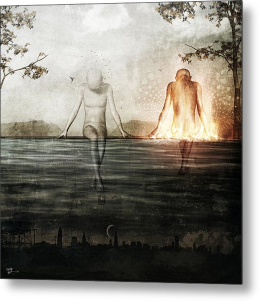 Here We Divide Metal Print by Cameron Gray