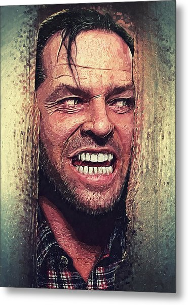 Here's Johnny - The Shining  Metal Print