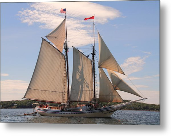 Heritage Full Sail Metal Print