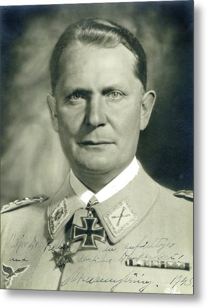 Herman Goering Autographed Photo 1945 Color Added 2016 Metal Print