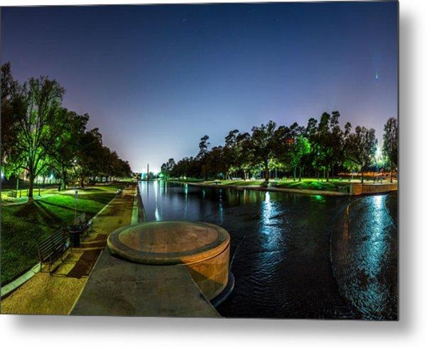 Hermann Park Reflecting Pool In Houston Texas Metal Print
