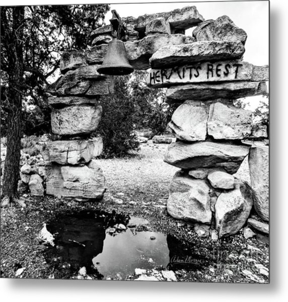 Hermit's Rest, Black And White Metal Print