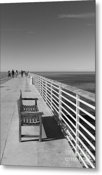 Hermosa Beach Seat Metal Print