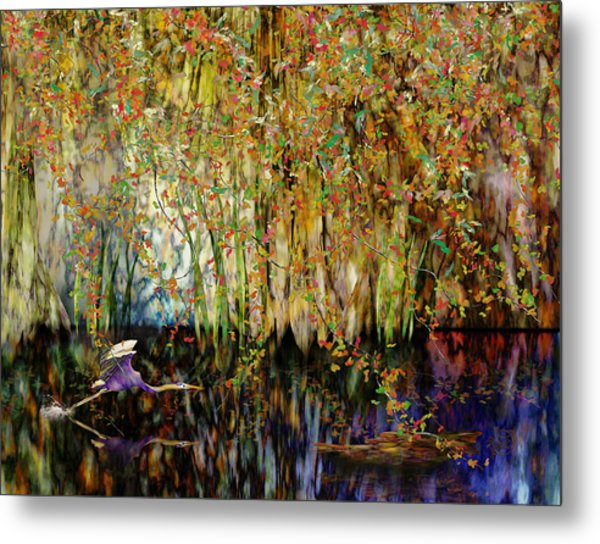 Heron Cove Metal Print by Gae Helton