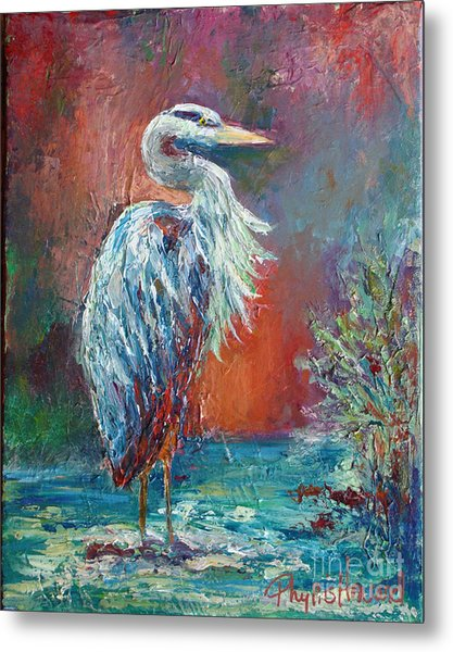 Heron In Color Metal Print