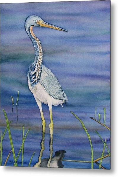 Heron Metal Print by Sharon Farber