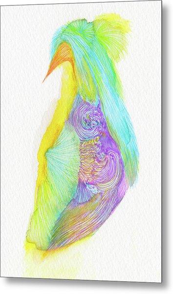 Heron - #ss16dw038 Metal Print by Satomi Sugimoto