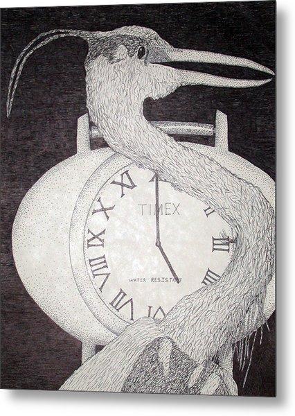 Heron Time Metal Print