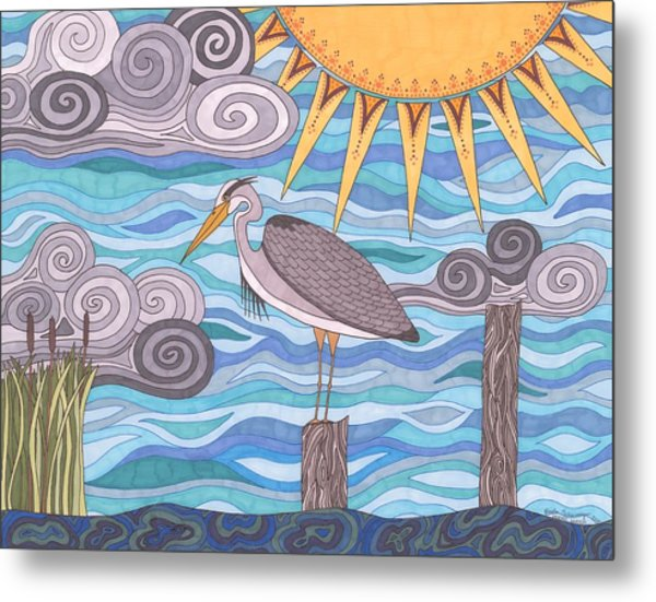 Heron's Watch Metal Print