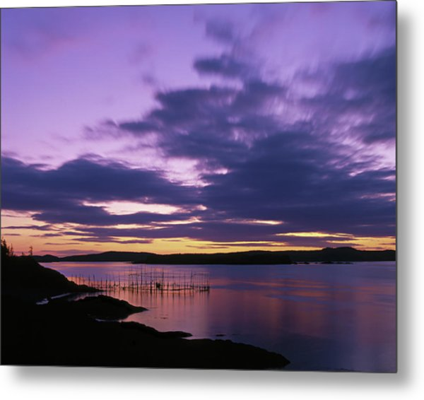 Herring Weir, Sunset Metal Print