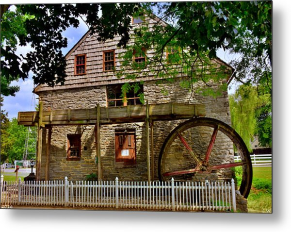 Metal Print featuring the photograph Herr's Grist Mill by Lisa Wooten