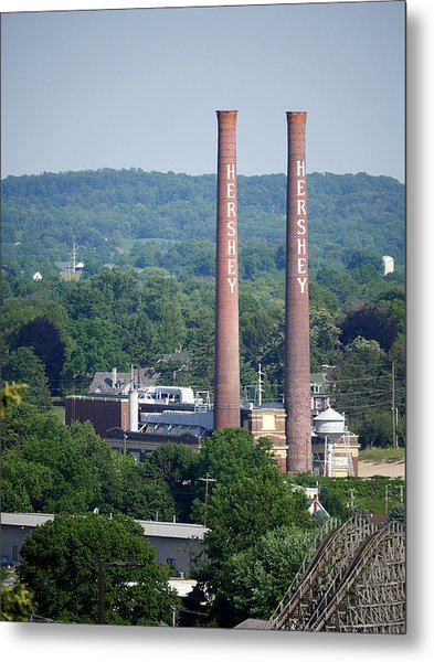 Hershey Smokestacks Metal Print