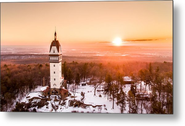 Heublein Tower In Simsbury Connecticut Metal Print