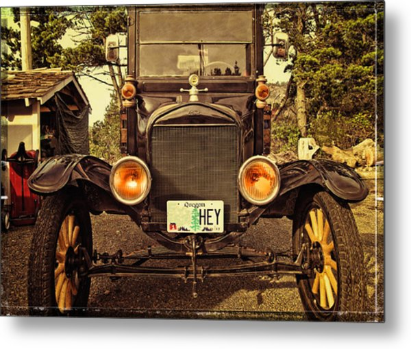 Hey A Model T Ford Truck Metal Print