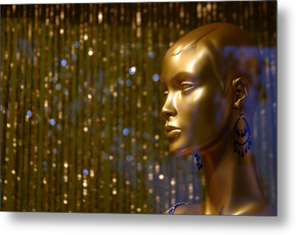 Hey Gold Looking Metal Print by Jez C Self
