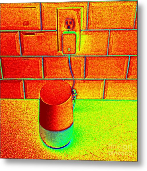 Heat Map Hey Google How Can You Help Me Metal Print by Richard W Linford