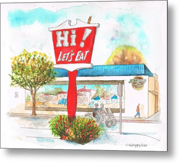 Hi Lets Eat Coffee Shop In Lompoc, California Metal Print