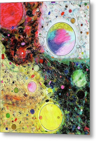 Metal Print featuring the mixed media Hidden Aliens by Michael Lucarelli