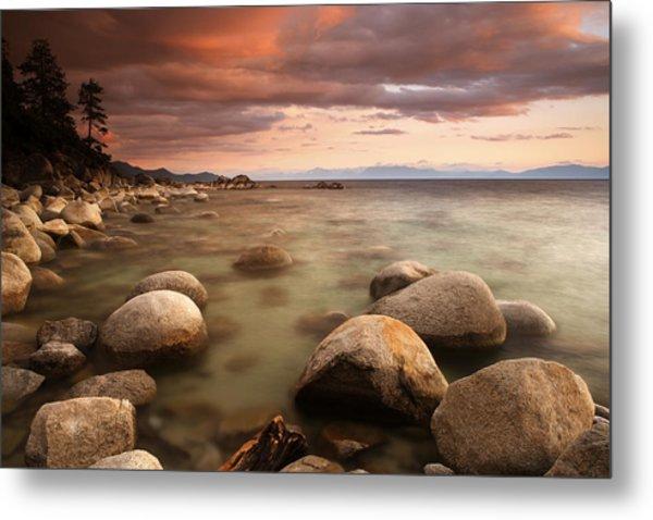 Hidden Beach At Sunset Metal Print by Eric Foltz
