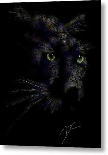 Metal Print featuring the digital art Hidden Cat by Darren Cannell