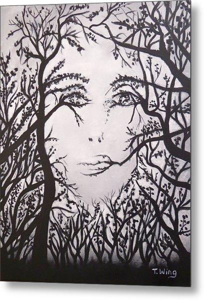 Hidden Face Metal Print